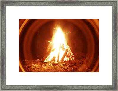 Ring Of Fire Framed Print by Artist Orange