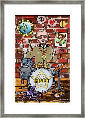 Ringo Starr Framed Print by John Goldacker