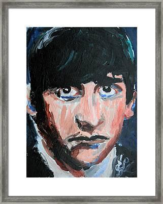 Ringo Starr  Framed Print by Jon Baldwin  Art