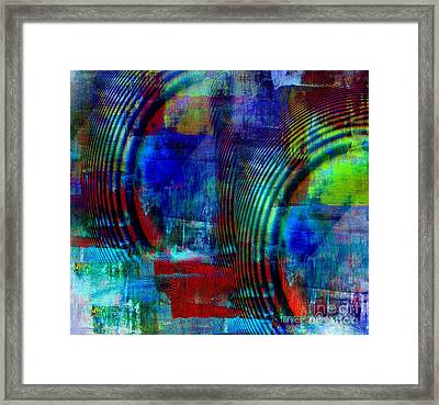 Rings And Echo Framed Print by Fania Simon
