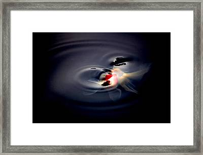 Rings In The Moonlight Framed Print