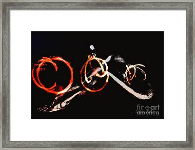 Framed Print featuring the photograph Burning Rings Of Fire by Clayton Bruster
