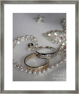 Rings Of Love Framed Print by Joanne Kocwin