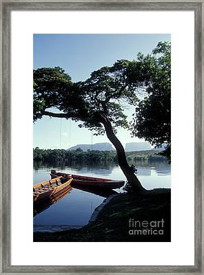 Framed Print featuring the photograph Rio Carrao Canaima Venezuela by John  Mitchell