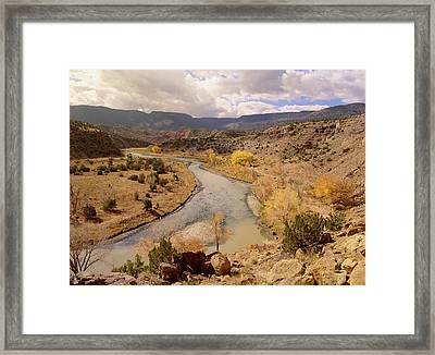 Rio Chama In Autumn New Mexico Framed Print