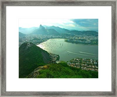 Rio De Janiero. Breathtaking  Framed Print by Michael Clarke JP