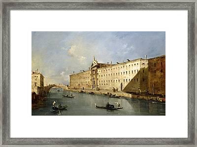 Rio Dei Mendicanti Framed Print by Francesco Guardi