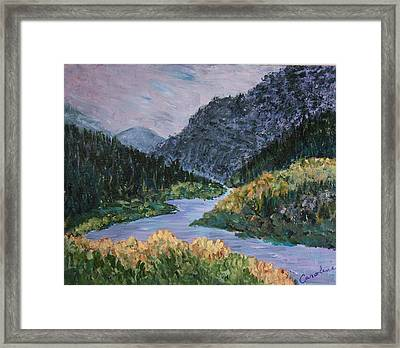 Rio Grande Framed Print by Carolene Of Taos