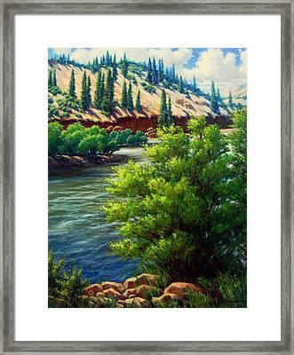 Rio Grande Colorado Framed Print by Vickie Fears