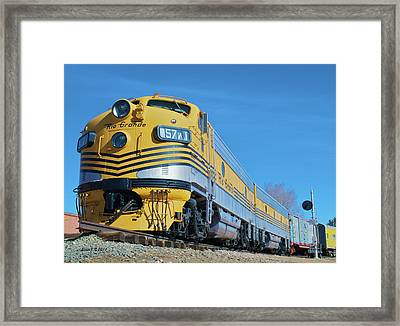 Rio Grande Diesel Framed Print by Stephen  Johnson