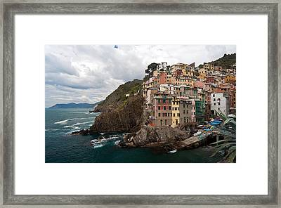 Riomaggiore Framed Print by Mike Reid