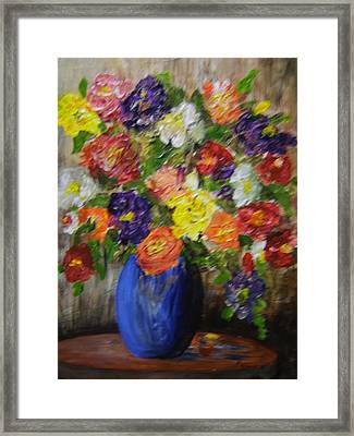 Riot Of Flowers Framed Print by Maureen Pisano