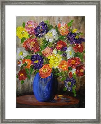 Riot Of Flowers Framed Print