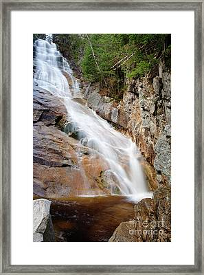 Ripley Falls - Crawford Notch State Park New Hampshire Usa Framed Print by Erin Paul Donovan