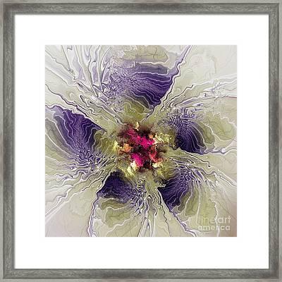 Rippled Petals Framed Print by Deborah Benoit