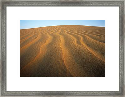 Ripples In Sand Framed Print by Adam Gault