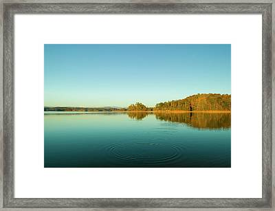 Ripples Of Change  Framed Print by Andria Patino