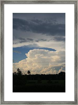 Rising Clouds Framed Print by Jessica Jandayan