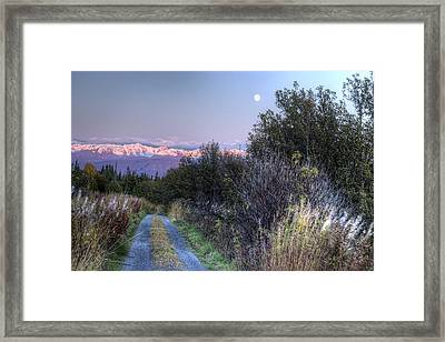 Framed Print featuring the photograph Rising Moon by Michele Cornelius