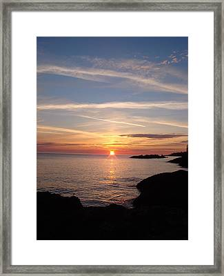 Framed Print featuring the photograph Rising Sun by Bonfire Photography