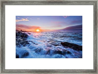 Rising Tide Framed Print by Mircea Costina Photography