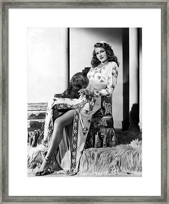 Rita Hayworth, Columbia Pictures, 1946 Framed Print by Everett