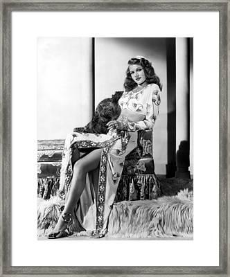 Rita Hayworth, Columbia Pictures, 1946 Framed Print