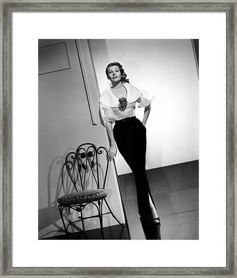 Rita Hayworth, Columbia Pictures, 1956 Framed Print by Everett