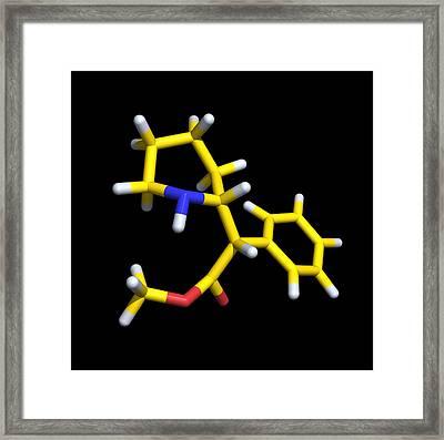 Ritalin Molecule Framed Print by Dr Tim Evans
