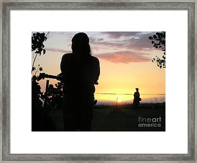 Ritual Sunset Framed Print