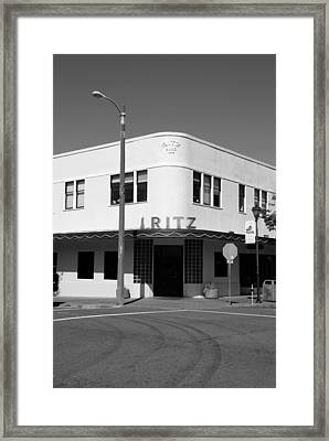 Ritz Building Eureka Ca Framed Print by Kathleen Grace