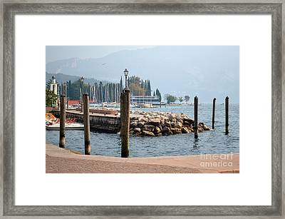 Framed Print featuring the photograph Riva Del Garda by Kathleen Pio