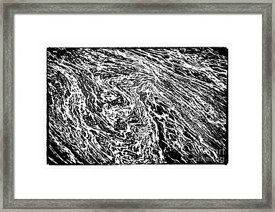 River Abstract Framed Print
