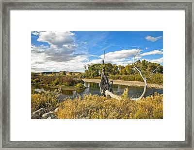 River At Hudson Wy. Framed Print by James Steele