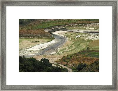 River Bed In Layers Framed Print by Viktor Savchenko