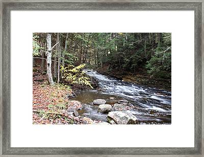 River Below Falls 3 Framed Print