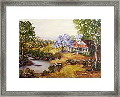 River Bent Framed Print