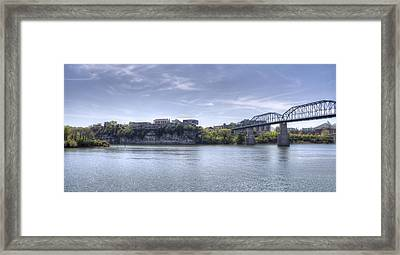 River Bluff Framed Print by David Troxel