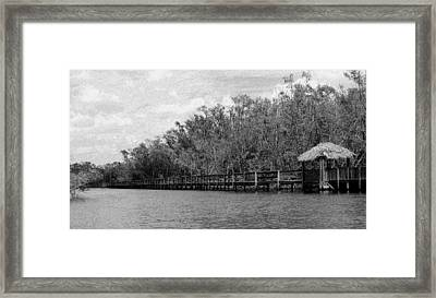 Framed Print featuring the photograph River Boardwalk by Bill Lucas