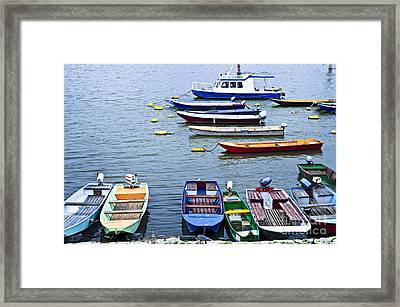 River Boats On Danube Framed Print