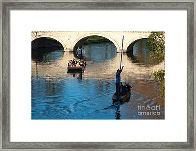 River Cam Traffic Framed Print by Andrew  Michael