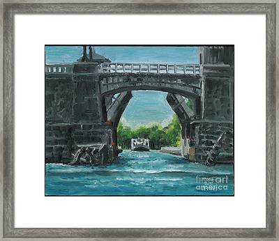River Charles Framed Print by Rich Arons