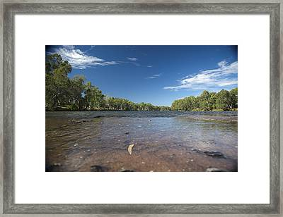 Framed Print featuring the photograph River Crossing. by Carole Hinding