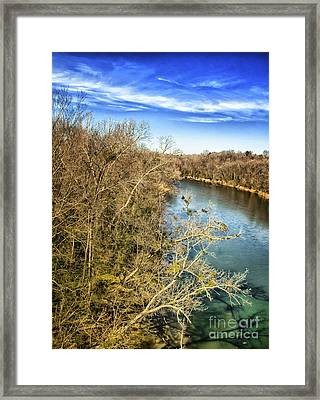 Framed Print featuring the photograph River Crossing Virginia by Jim Moore