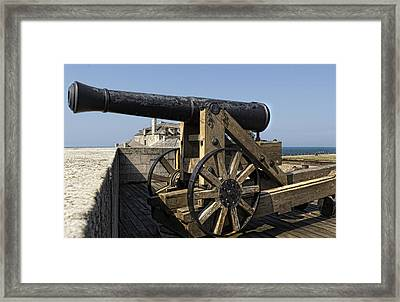 River Defense Framed Print by Peter Chilelli