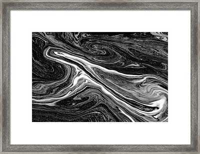 River Foam Framed Print