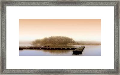 River Fog Framed Print by Karen Lynch
