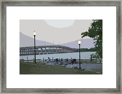 River Front Framed Print by Nita Hastings