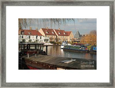 Framed Print featuring the photograph River Great Ouse by Andrew  Michael