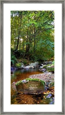 River In Cawdor Big Wood Framed Print
